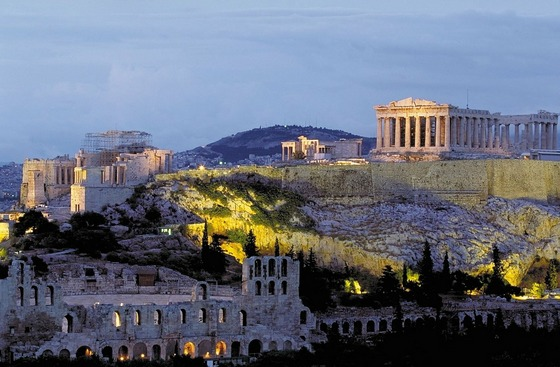 The Acropolis and Parthenon temples