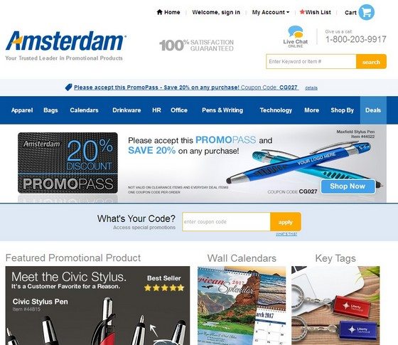Amsterdam Printing website