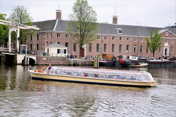 Canal boat tour in Amsterdam