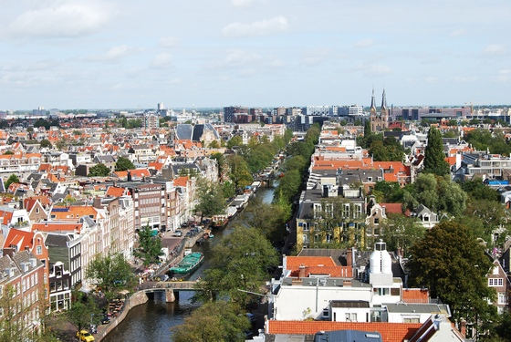 Panoramic view of Amsterdam city