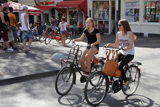 Cycling is a popular way to get around the city