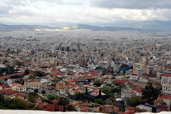 Panoramic view of the Athens, Greece