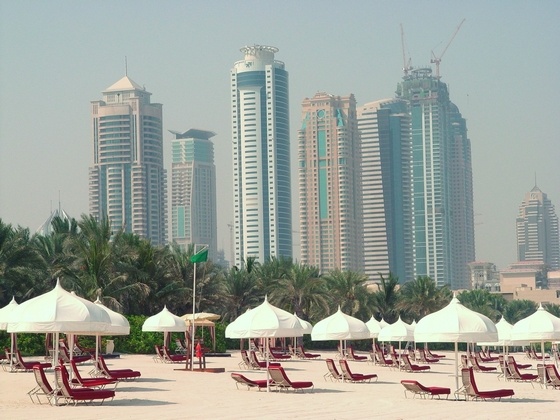 One of beaches in Dubai