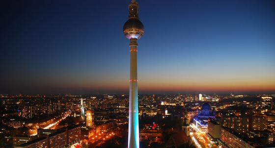 City of Berlin at night