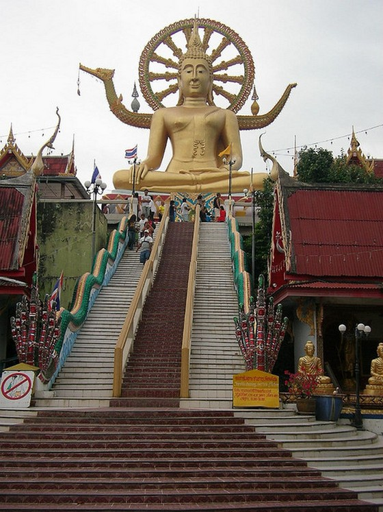 The temple of Big Buddha in Koh Samui
