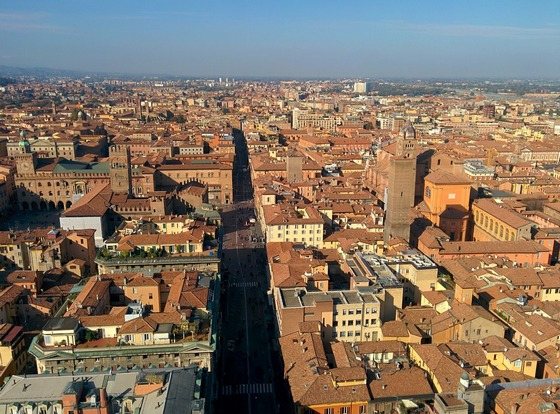 Grand old city of Bologna, Italy