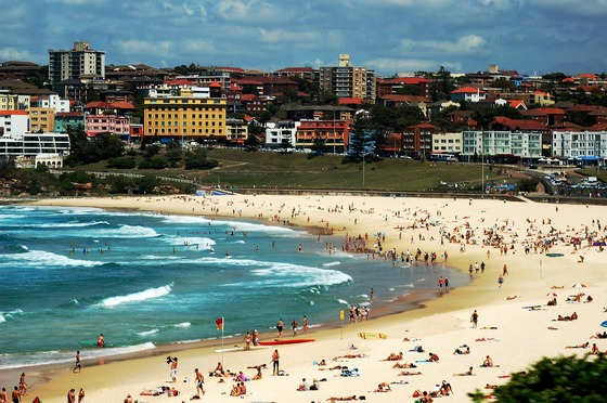 The famous Bondi Beach in Sydney, Australia