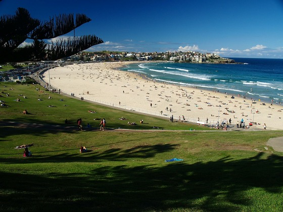 Famous Bondi Beach in Sydney's suburb of Bondi, Australia