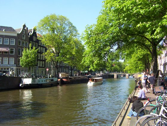 Canal of the Prince in Amsterdam