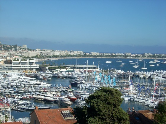 City of Cannes on French Riviera