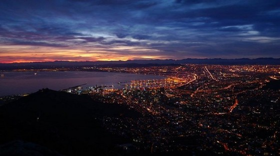 Cape Town panorama at night