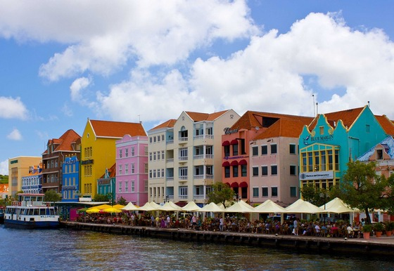 Colourful apartments in the Caribbean islands