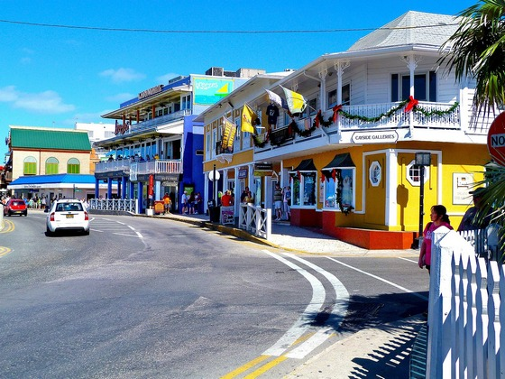 Colourful Cayman island houses