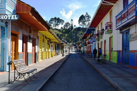 Colourful Salento Quindio in Colombia