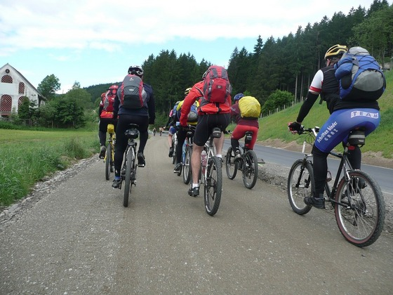 Group cycling tour