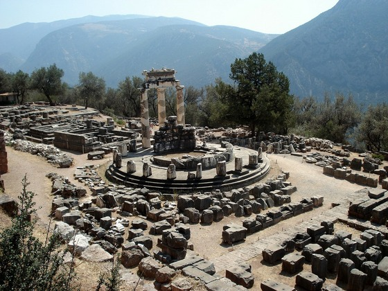 Delphi archeological site in Greece