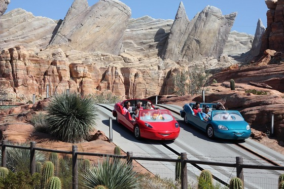 Cars Land attraction at Disneyland