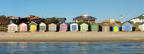 Bathing boxes in Edithvale, Melbourne
