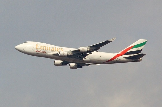 The Emirates aeroplane