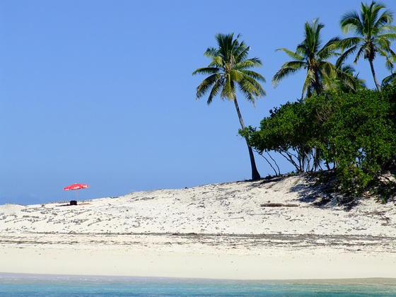 A tropical beach on Fiji islands