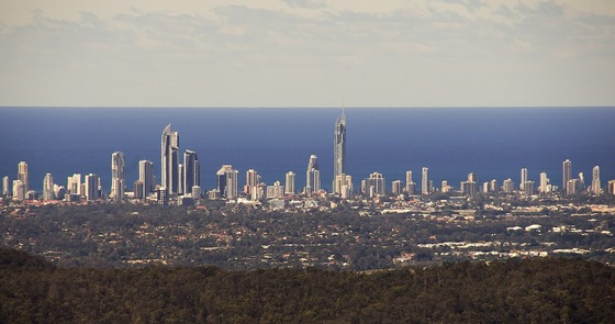 Skyline of Surfers Paradise, the main Gold Coast city suburb