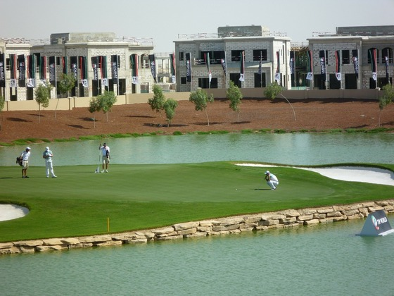 Golfing in Dubai