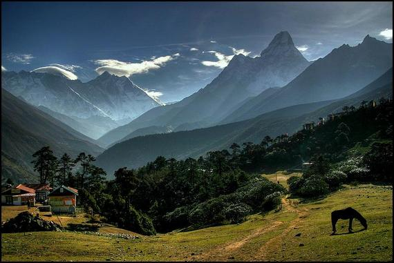 Hill station in the Himalayas
