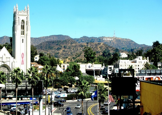 Looking towards Hollywood sign