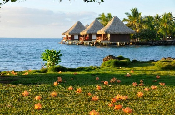 Intercontinental Resort and Spa overwater bungalows