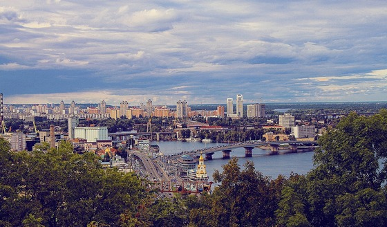 Panoramic view of Kiev, Ukraine