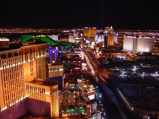 View of Las Vegas at night