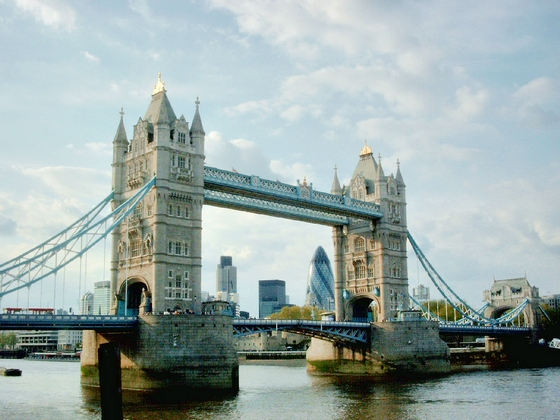Popular London's landmark, the Tower Bridge
