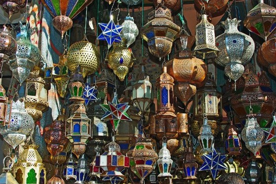 Souk lamps from Marrakech market