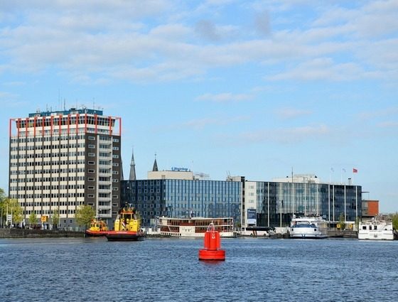 Modern Amsterdam city buildings