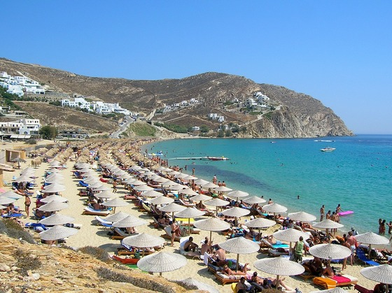 Elias Beach, Mykonos Island, Greece