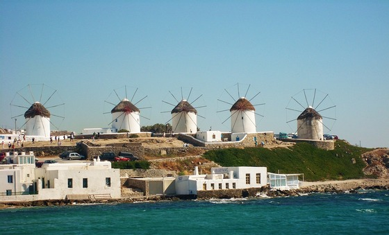 Cyclades windmills on Mykonos