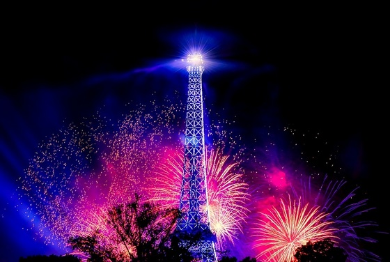 New Year's Eve celebrations at Eifel Tower