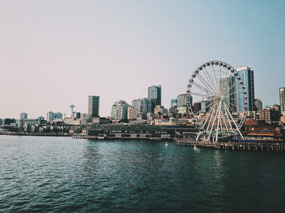 Seattle skyline with the Great Wheel