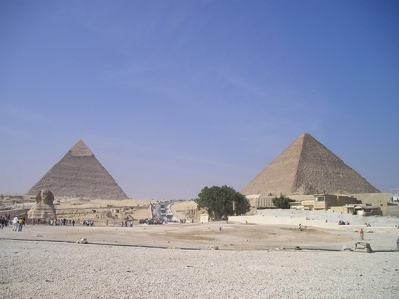 Large pyramids in Egypt