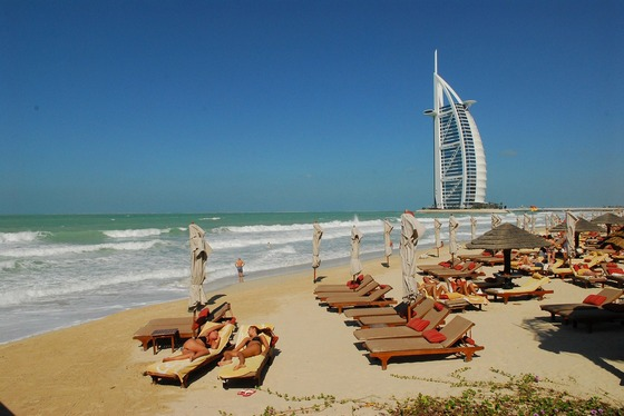 A day of relaxation on a Dubai beach