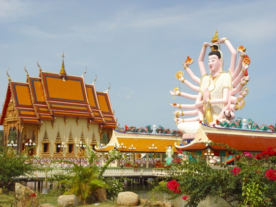 Koh Samui Island in Thailand, with the Big Buddha temple