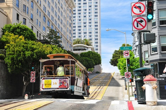 Popular San Francisco cable cars