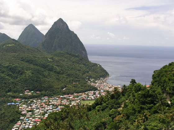 The Pitons at Soufriere in St. Lucia