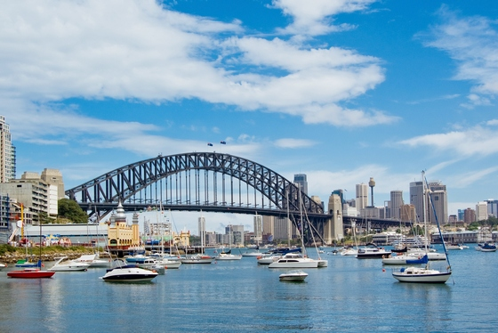 Sydney's Harbour Bridge, in Australia