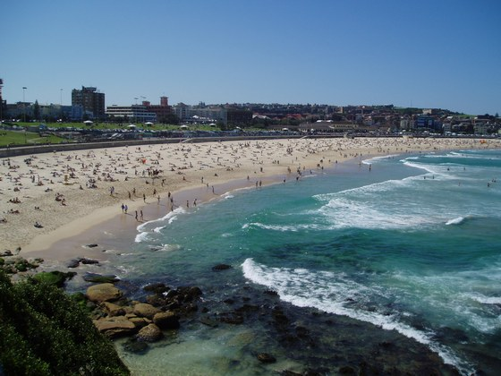 Bondi beach on Sydney's south shore