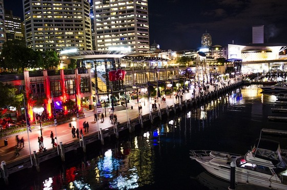 Sydney's Darling Harbour lights