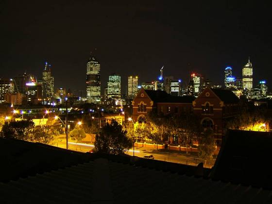 Part of Sydney's night skyline