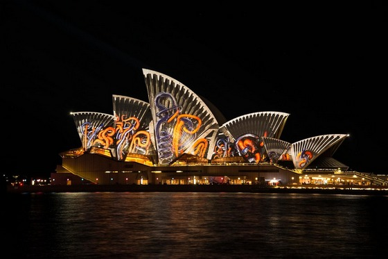 Sydney's Opera House light painted