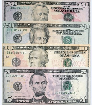 The US Dollar notes