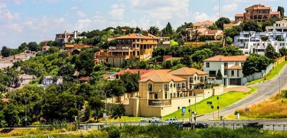 Hillside township in South Africa
